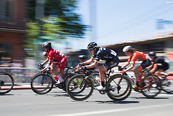 Grace Brown (AUS) of Wiggle High5 Cycling Team accelerates out of a corner on Stage 3 of the Amgen Tour of California - a 70 km road race, starting and finishing in Sacramento on May 19, 2018, in California, United States. (Photo by Balint Hamvas/Velofocus.com)