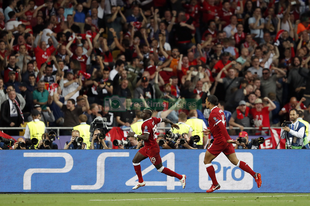 (L-R) Sadio Mane of Liverpool FC, Virgil van Dijk of Liverpool FC during the UEFA Champions League final between Real Madrid and Liverpool on May 26, 2018 at NSC Olimpiyskiy Stadium in Kyiv, Ukraine
