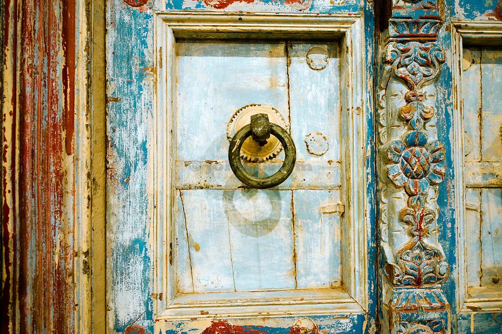 Weathered door detail.