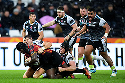 Thembelani Bholi of Southern Kings is tackled by James Hook of Ospreys <br />  - Ryan Hiscott/JMP - 08/11/19 - SPORT - Liberty Stadium - Swansea, Wales -
