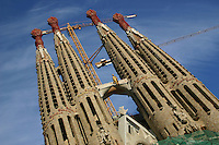 La Sagrada Familia, Barcelona, Spain<br />