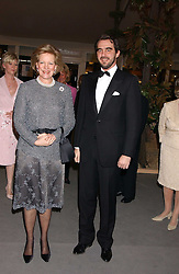 HM QUEEN ANNE-MARIE OF GREECE and PRINCE NIKOLAOS OF GREECE at the British Antiques Dealers Association antiques & Fine art fair in aid of the charity Childline held at the Duke of York Square, Chelsea, London on 23rd March 2006.<br />