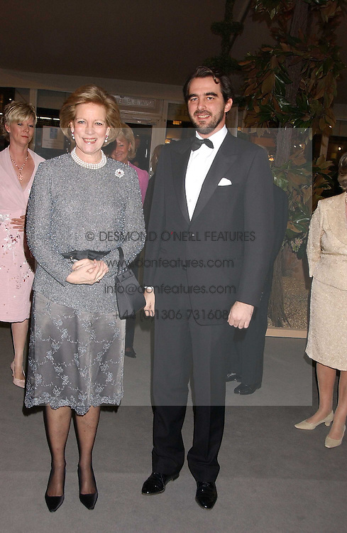 HM QUEEN ANNE-MARIE OF GREECE and PRINCE NIKOLAOS OF GREECE at the British Antiques Dealers Association antiques & Fine art fair in aid of the charity Childline held at the Duke of York Square, Chelsea, London on 23rd March 2006.<br /><br />NON EXCLUSIVE - WORLD RIGHTS