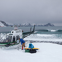 Helisurf Alaska in winter