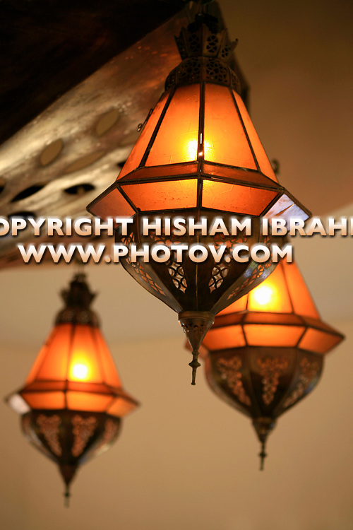 Traditional Moroccan Light Fixture, Casablanca, Morocco