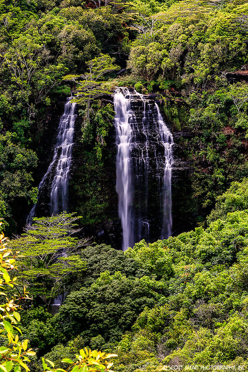 Opaekaa Waterfall, located in Kauai, Hawaii