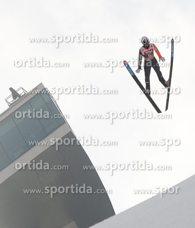03.01.2015, Bergisel Schanze, Innsbruck, AUT, FIS Ski Sprung Weltcup, 63. Vierschanzentournee, Innsbruck, Training, im Bild Daniel Huber (AUT) // Daniel Huber of Austria soars through the air during a training session for the 63rd Four Hills Tournament of FIS Ski Jumping World Cup at the Bergisel Schanze in Innsbruck, Austria on 2015/01/03. EXPA Pictures © 2015, PhotoCredit: EXPA/ Jakob Gruber