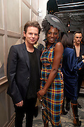CHRISTOPHER KANE; SHINGAI SHONIWA ( NOISETTES) , Donatella Versace celebrates the launch of the CSM 20:20 Fund, at the Connaught Hotel, Mayfair, London, 11th November, 2010. -DO NOT ARCHIVE-© Copyright Photograph by Dafydd Jones. 248 Clapham Rd. London SW9 0PZ. Tel 0207 820 0771. www.dafjones.com.
