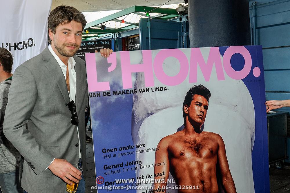 NLD/Amsterdam/20150420 - Presentatie L'Homo 2015, Rick Brandsteder en de cover