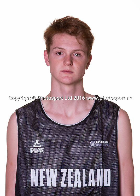 Samuel Waardenburg. New Zealand 3x3 Basketball headshots session. Sunday 22 May 2016 at St Peters School, Cambridge, New Zealand. <br /> <br /> Copyright Photo: Bruce Lim / www.photosport.nz
