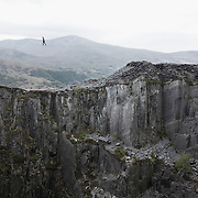 The Lost World is a part of an old slate quarry in North Wales. The Lost World spans 130 meter and a 150 meter deep. Ruins of work men sheds and discarded tools can still be found at the bottom of the pit which has been out of use for  more than 50 years.
