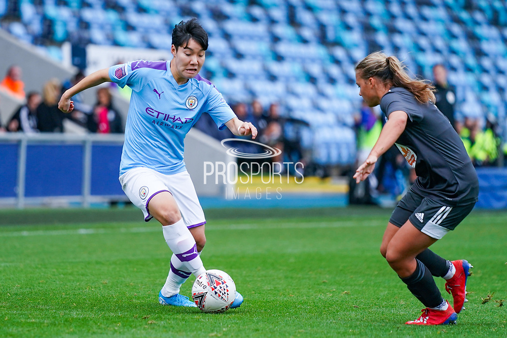Manchester City Women forward Lee Geum-min (17) during the FA Women's Super League match between Manchester City Women and BIrmingham City Women at the Sport City Academy Stadium, Manchester, United Kingdom on 12 October 2019.