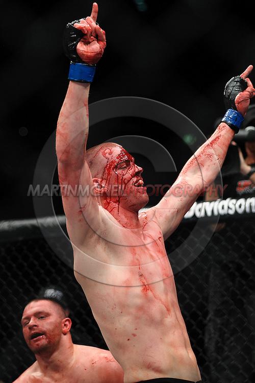 "COLOGNE, GERMANY, JUNE 13, 2009: Stefan Struve and Dennis Stojnic during ""UFC 99: The Comeback"" inside LanXess Arena, Cologne"