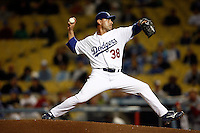 May 12, 2007: #38 Randy Seanez on the mound pitching as the Los Angeles Dodgers defeated the Cincinnati Reds 7-3 at Dodger Stadium in Los Angeles, CA.