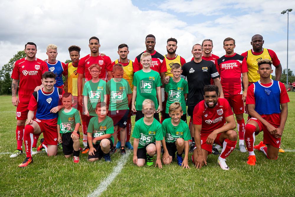 Team photos at half time with Bristol City players and Hengrove Athletic age group teams - Mandatory by-line: Rogan Thomson/JMP - 10/07/2016 - FOOTBALL - Hengrove Athletic Club - Bristol, England - Hengrove Athletic v Bristol City - Pre Season Community Match.