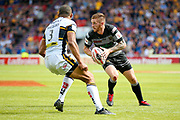 Hull FC scrum half Marc Sneyd (7) in action  during the Challenge Cup 2017 semi final match between Hull RFC and Leeds Rhinos at the Keepmoat Stadium, Doncaster, England on 29 July 2017. Photo by Simon Davies.