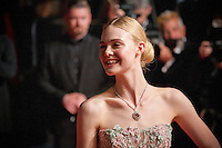 Actress Elle Fanning at the gala screening for the film The Neon Demon at the 69th Cannes Film Festival, Friday 20th May 2016, Cannes, France. Photography: Doreen Kennedy