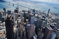 Downtown San Francisco & Bay Bridge (Aerial)