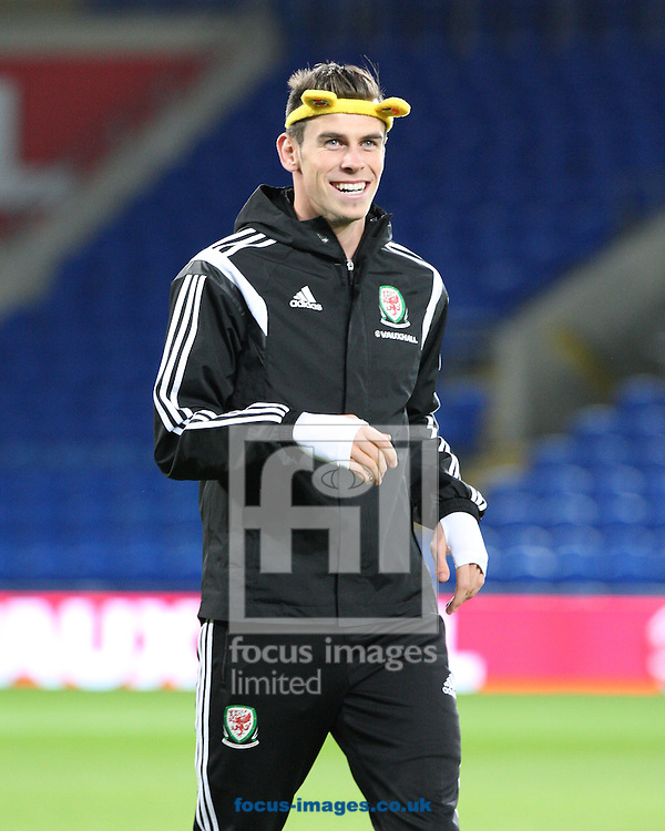 Picture by Mark Hawkins/Focus Images Ltd 07949 023795<br /> 15/11/2013<br /> Gareth Bale pictured during Wales Training at Cardiff City Stadium, Cardiff.