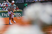 Paris, France. Roland Garros. June 7th 2013.<br /> Serbian player Novak DJOKOVIC against Rafael NADAL