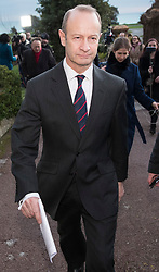 © Licensed to London News Pictures. 22/01/2018. Folkstone, UK. UKIP Leader HENRY BOLTON walks back to his hotel after giving a statement to the media in Folkestone, Kent following a series of resignations within the party. Bolton, who has only been leader of UKIP since September 2017, has come under pressure following unfavourable stories in the press about his personal life and the behaviour of his former girlfriend Jo Marney. Photo credit: Peter Macdiarmid/LNP