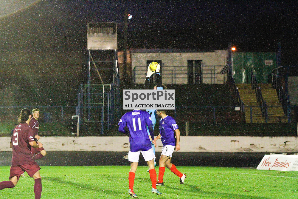 Cowdenbeath FC V Arbroath FC, Scottish Cup Round 3, 28 November 2015Cowdenbeath FC V Arbroath FC, Scottish Cup Round 3, 28 November 2015<br /> <br /> ARBROATH GOALKEEPER #1 ALLAN FLEMING SAVES ANOTHER SHOT