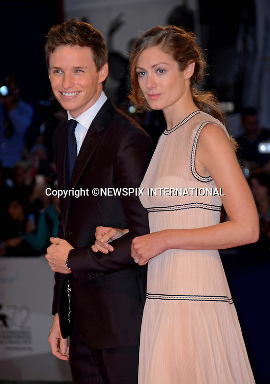 05.09.2015; Venezia, Italy: EDDIE REDMAYNE AND HANNAH BAGSHAWE<br /> atttends the &quot;The Danish Girl&quot; premiere at the 72nd Venice International Film Festival.<br /> Mandatory Credit Photo: &copy;NEWSPIX INTERNATIONAL<br /> <br /> **ALL FEES PAYABLE TO: &quot;NEWSPIX INTERNATIONAL&quot;**<br /> <br /> PHOTO CREDIT MANDATORY!!: NEWSPIX INTERNATIONAL(Failure to credit will incur a surcharge of 100% of reproduction fees)<br /> <br /> IMMEDIATE CONFIRMATION OF USAGE REQUIRED:<br /> Newspix International, 31 Chinnery Hill, Bishop's Stortford, ENGLAND CM23 3PS<br /> Tel:+441279 324672  ; Fax: +441279656877<br /> Mobile:  0777568 1153<br /> e-mail: info@newspixinternational.co.uk