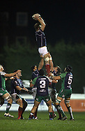 Alexander Brown collects this line-out during the British &amp; Irish Cup match between London Scottish &amp; Connacht Eagles at Richmond, Greater London on Friday 29th November 2014<br /> <br /> Photo: Ken Sparks | UK Sports Pics Ltd<br /> London Scottish v Connacht Eagles, British &amp; Irish Cup,29th November 2014<br /> <br /> &copy; UK Sports Pics Ltd. FA Accredited. Football League Licence No:  FL14/15/P5700.Football Conference Licence No: PCONF 051/14 Tel +44(0)7968 045353. email ken@uksportspics.co.uk, 7 Leslie Park Road, East Croydon, Surrey CR0 6TN. Credit UK Sports Pics Ltd