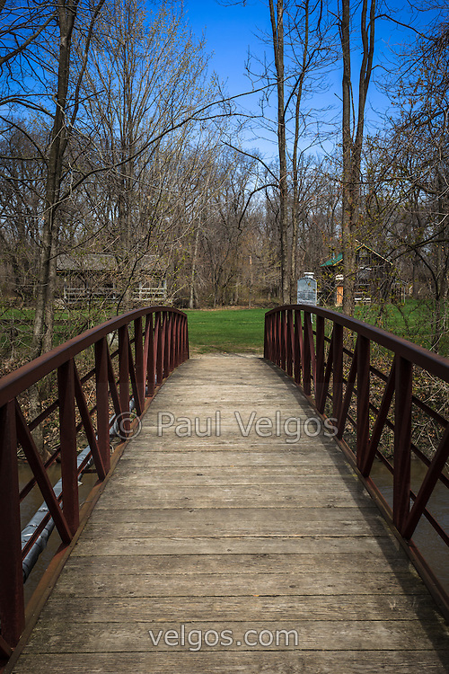 Photo of a bridge in Deep River County Park in Northwest Indiana.