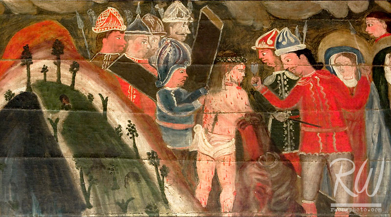 Original Stations of the Cross Art Painting, Mission San Gabriel Arcangel, California