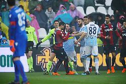"""Foto Filippo Rubin<br /> 03/03/2018 Ferrara (Italia)<br /> Sport Calcio<br /> Spal - Bologna - Campionato di calcio Serie A 2017/2018 - Stadio """"Paolo Mazza""""<br /> Nella foto: MANUEL LAZZARI (SPAL) E BLERIM DEZMAILI  (BOLOGNA)<br /> Photo by Filippo Rubin<br /> March 03, 2018 Ferrara (Italy)<br /> Sport Soccer<br /> Spal vs Bologna - Italian Football Championship League A 2017/2018 - """"Paolo Mazza"""" Stadium <br /> In the pic:"""
