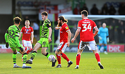 Liam Kitching of Forest Green Rovers compeets with Stuart Sinclair of Walsall- Mandatory by-line: Nizaam Jones/JMP - 08/02/2020 - FOOTBALL - New Lawn Stadium - Nailsworth, England - Forest Green Rovers v Walsall - Sky Bet League Two