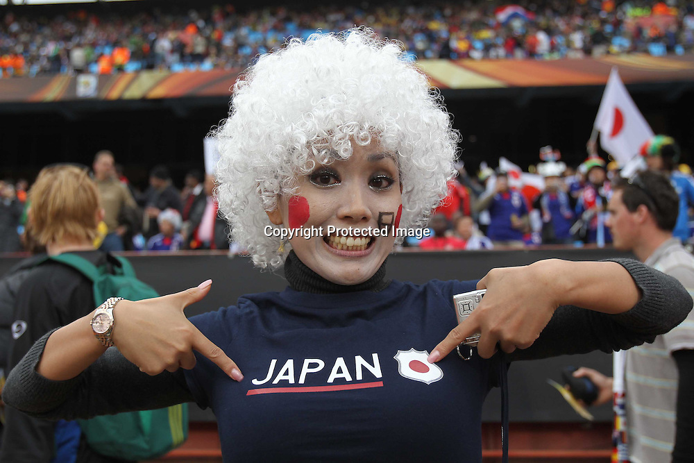 &copy;Jonathan Moscrop - LaPresse<br /> 29 06 2010 Pretoria/Tshwane ( Sud Africa )<br /> Sport Calcio<br /> Paraguay vs Giappone - Mondiali di calcio Sud Africa 2010 Ottavi di finale - Loftus Versfield Stadium<br /> Nella foto: tifosi allo stadio<br /> <br /> &copy;Jonathan Moscrop - LaPresse<br /> 29 06 2010 Pretoria/Tshwane ( South Africa )<br /> Sport Soccer<br /> Paraguay versus Japan - FIFA 2010 World Cup South Africa Round of sixteen - Loftus Versfield Stadium<br /> In the Photo: fans pictured at the stadium