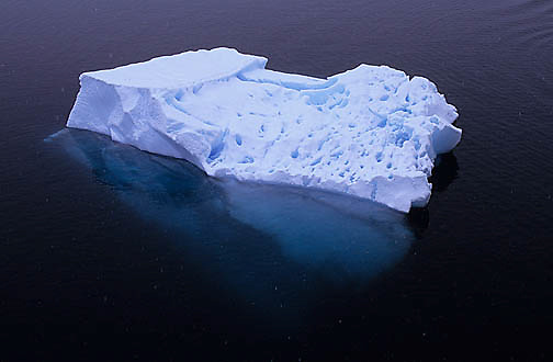 Antarctica, Iceberg floating in the Lemaire Channel.