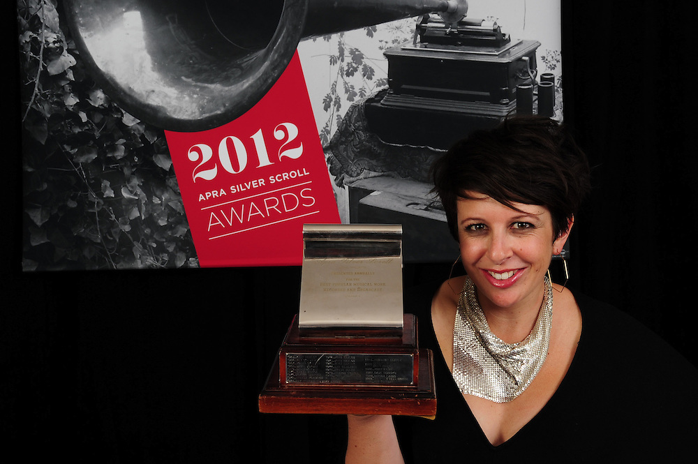 Stephanie Brown, winner of the APRA Silver Scroll Awards 2012. Auckland Town Hall. 13 September 2012.