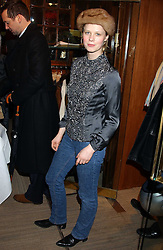 KATRIN BUCHANAN at a party hosted by the Gussalli Beretta family to celebrate the opening of the new Beretta store, 36 St.James's Street, London SW1 on 10th January 2006.<br />