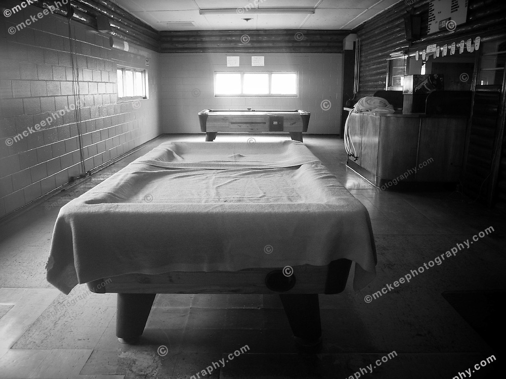 Romar Bowling Lanes in the off season, in Boothbay Harbor, Maine