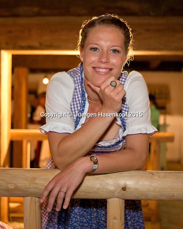 Laura Siegemund (GER) im Dirndl  auf der Player's Party,privat,<br /> <br /> <br /> Tennis - Gastein Ladies 2015 - WTA -  Europaeischer Hof - Bad Gastein -  - Oesterreich - 21 July 2015. <br /> &copy; Juergen Hasenkopf