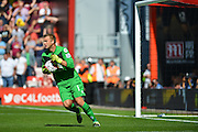 AFC Bournemouth's Goalkeeper Artur Boruc during the Barclays Premier League match between Bournemouth and Aston Villa at the Goldsands Stadium, Bournemouth, England on 8 August 2015. Photo by Mark Davies.