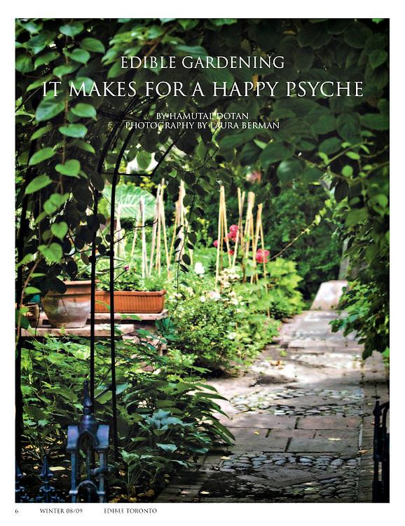 Full page 'Edible Gardening' article - Edible Toronto Winter 2008/2009