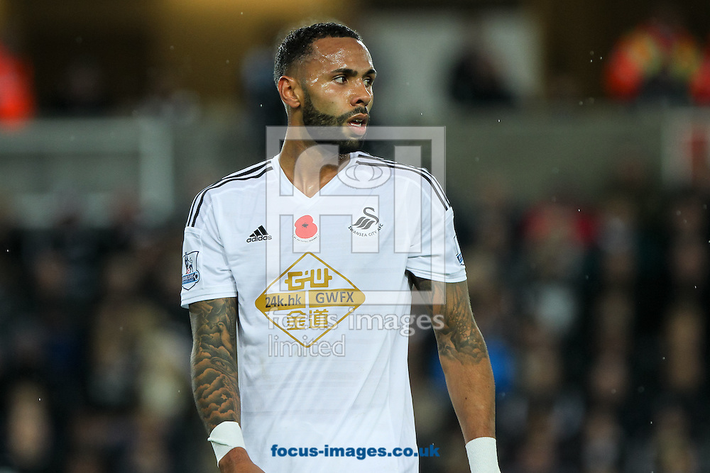 Kyle Bartley of Swansea City during the Barclays Premier League match at the Liberty Stadium, Swansea<br /> Picture by Tom Smith/Focus Images Ltd 07545141164<br /> 09/11/2014