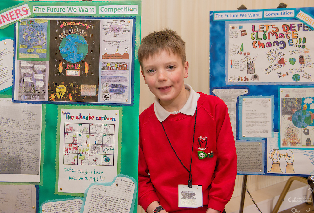 Primary  School Poster winner Adam during the WWF UK Earth Hour 10th Anniversary Parliamentary Reception, Terrace Pavilion, Palace of Westminster. 28th Feb. 2017