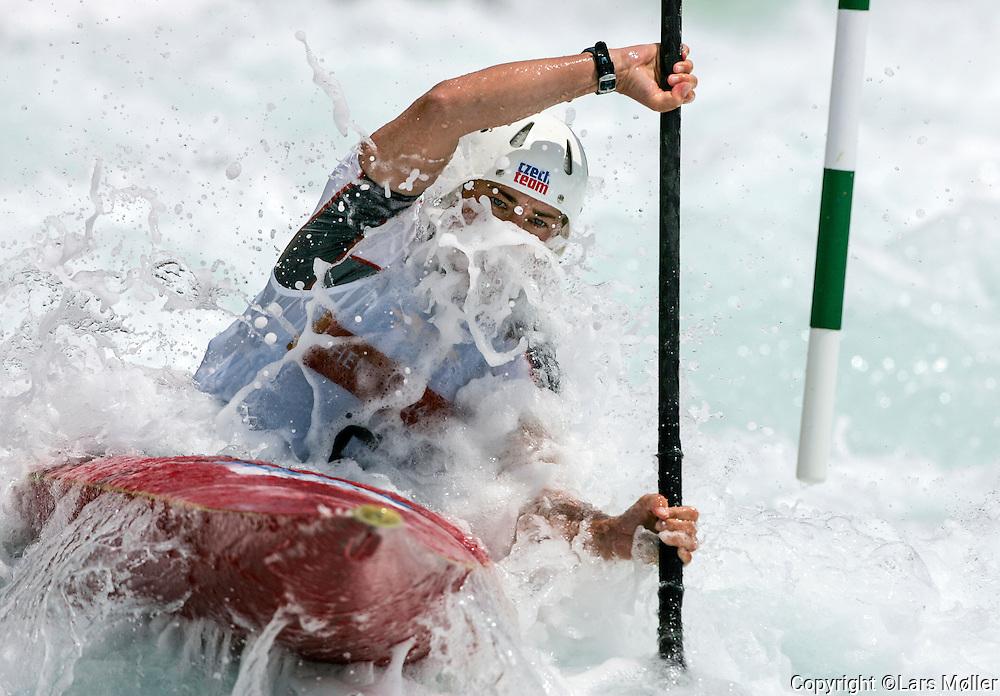 DK Caption: <br /> 20040813, Athen, Gr&aelig;kenland:  Athen 2004 Olympic Games / Olympiske Lege. Kajakslalom, Irena Pavelkova (CZH) <br /> Foto: Lars M&oslash;ller<br /> UK Caption: <br /> 20040813, Athens, Greece:  Athens 2004 Olympic Games / Olympiske Lege. Cayak slalom Irena Pavelkova (CZH) <br /> Photo: Lars Moeller