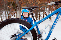 Enjoying the VASA trail system on snow bike, cross-country skis, and snow shoes.
