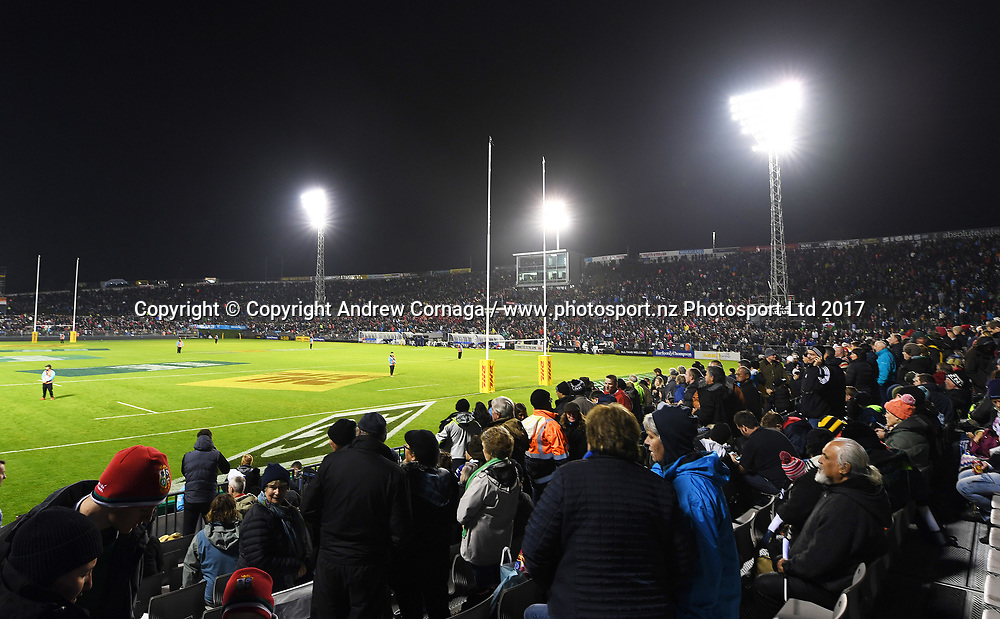 A general view of fans and supporters.<br /> Provincial Barbarians v British and Irish Lions. Rugby Union. Whangarei, New Zealand. Saturday 3 June 2017. &copy; Copyright Photo: Andrew Cornaga / www.Photosport.nz