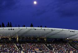 Moon during football match between NK Maribor and ND Triglav in 34th Round of Prva liga Telekom Slovenije 2013/14, on May 13, 2014 in Stadium Ljudski vrt, Maribor, Slovenia. Photo by Vid Ponikvar / Sportida