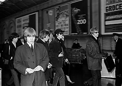 The Rolling Stones Charlie is my Darling - Ireland 1965...The Rolling Stones roll into Dublin by train from Belfast at Amiens Street station (now Connolly station) for thier concert at the Adelphi Theatre. L-R: Bill Wyman (bass), Brian Jones (guitar), Charlie Watts (drums), Mick Jagger (vocals), Keith Richards (guitar) and  manager Andrew Loog Oldham. This was the band's first Irish tour of 1965...07/01/1965.01/07/1965.07 January 1965..The Rolling Stones Charlie is my Darling - Ireland 1965.Out November 2nd from ABKCO.Super Deluxe Box Set/Blu-ray and DVD Details Revealed. .ABKCO Films is proud to join in the celebration of the Rolling Stones 50th Anniversary by announcing exclusive details of the release of the legendary, but never before officially released film, The Rolling Stones Charlie is my Darling - Ireland 1965.  The film marked the cinematic debut of the band, and will be released in Super Deluxe Box Set, Blu-ray and DVD configurations on November 2nd (5th in UK & 6th in North America).. .The Rolling Stones Charlie is my Darling - Ireland 1965 was shot on a quick weekend tour of Ireland just weeks after ?(I Can't Get No) Satisfaction? hit # 1 on the charts and became the international anthem for an entire generation.  Charlie is my Darling is an intimate, behind-the-scenes diary of life on the road with the young Rolling Stones featuring the first professionally filmed concert performances of the band's long and storied touring career, documenting the early frenzy of their fans and the riots their live performances incited.. .Charlie is my Darling showcases dramatic concert footage - including electrifying performances of ?The Last Time,? ?Time Is On My Side? and the first ever concert performance of the Stones counterculture classic, ?(I Can't Get No) Satisfaction.?  Candid, off-the-cuff interviews are juxtaposed with revealing, comical scenes of the band goofing around with each other. It's also an insider's glimpse into the band's developing musical styl