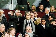 Prospective Crytal Palace manager Alan Pardew with chairman Steve Parish, during the Barclays Premier League match at Villa Park, Birmingham<br /> Picture by Andy Kearns/Focus Images Ltd 0781 864 4264<br /> 01/01/2015