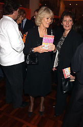 CAMILLA PARKER BOWLES at a party to celebrate the publication of 'E is for Eating' by Tom Parker Bowles held at Kensington Place, 201 Kensington Church Street, London W8 on 3rd November 2004.<br /><br />NON EXCLUSIVE - WORLD RIGHTS