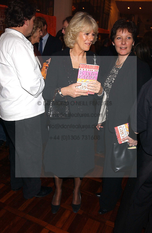 CAMILLA PARKER BOWLES at a party to celebrate the publication of 'E is for Eating' by Tom Parker Bowles held at Kensington Place, 201 Kensington Church Street, London W8 on 3rd November 2004.<br />
